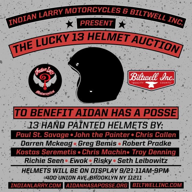LUCKY 13 HELMET AUCTION